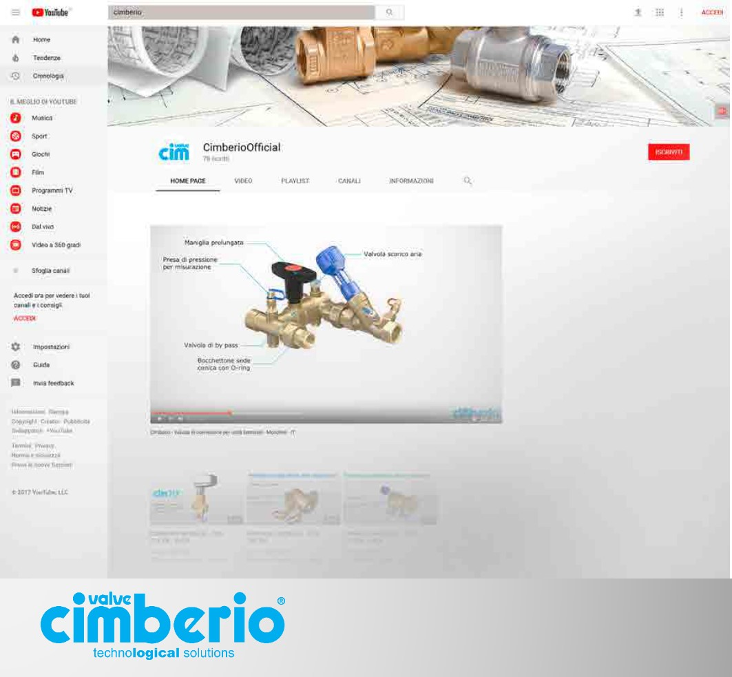 More than 11.000 views of Cimberio's Technical Tutorials on Youtube