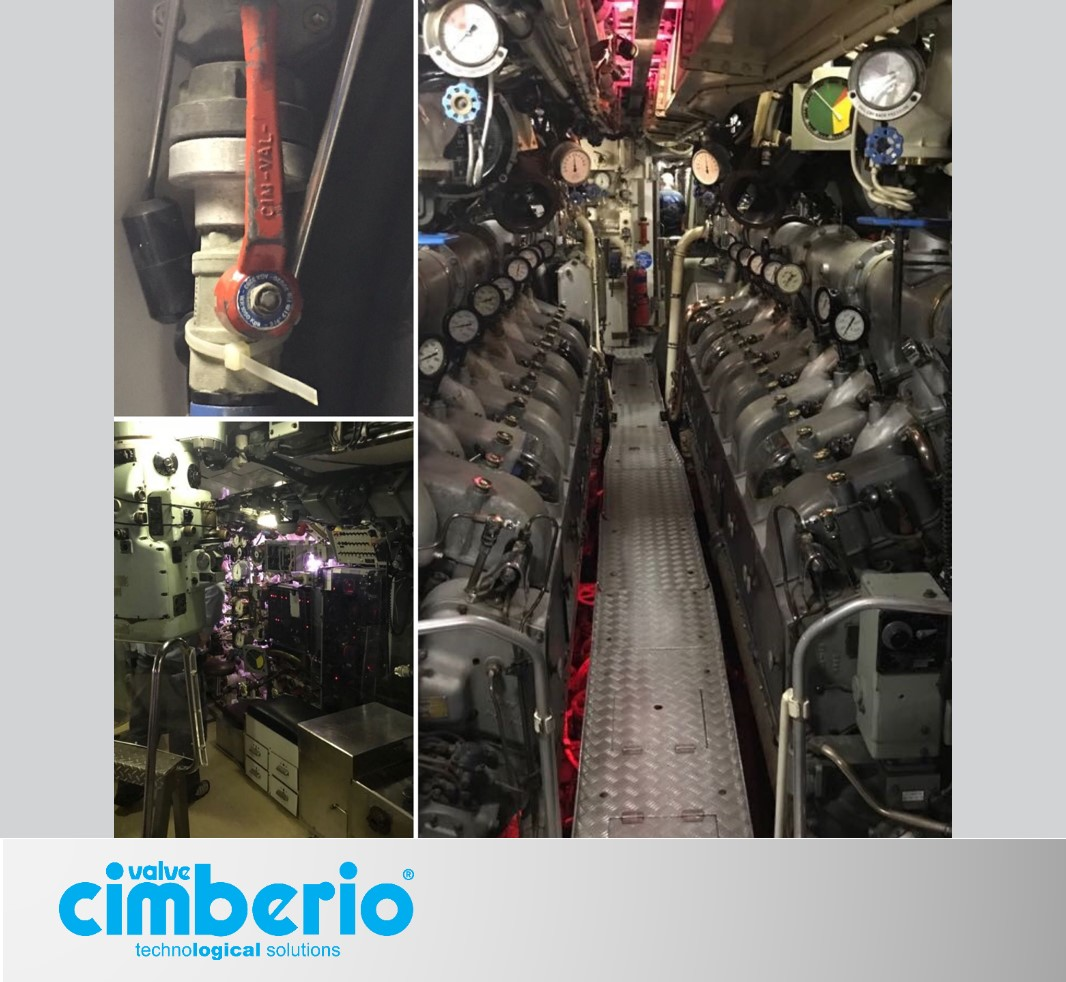 World War II: in Australia a submarine with Cimberio's valves!